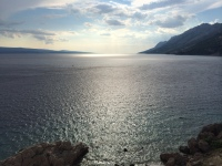 Adriatic Sea - up the coast from Brela