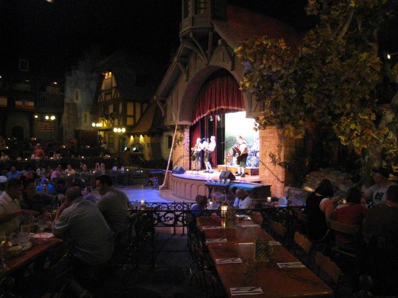 Live music inside the Biergarten restaurant