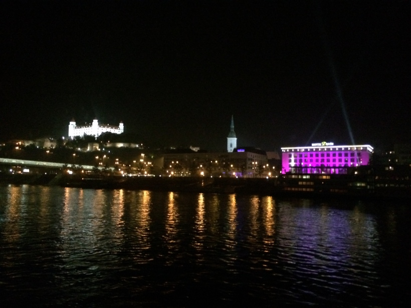 Sailing away from Bratislava