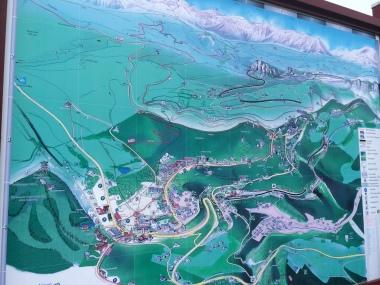 Map of trails around Semmering