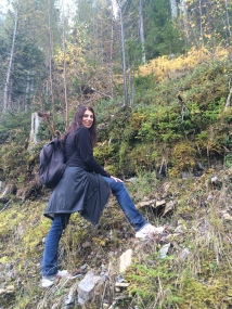 Sonja hunting for blueberries