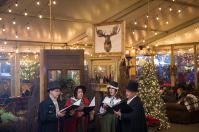 Olde Towne Carolers singing at the Blue Cross River Rink in Philadelphia