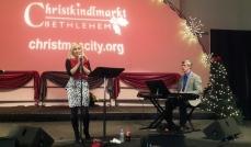 Jennifer Graf and Terry Musselman return to sing at Christkindlmarkt in Bethlehem, PA
