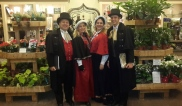 Performing at the gift shop in Longwood Gardens