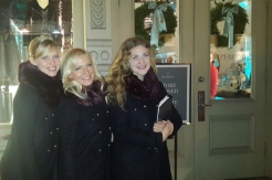 OTC provided singing models for the holiday event at Piperlime in NYC