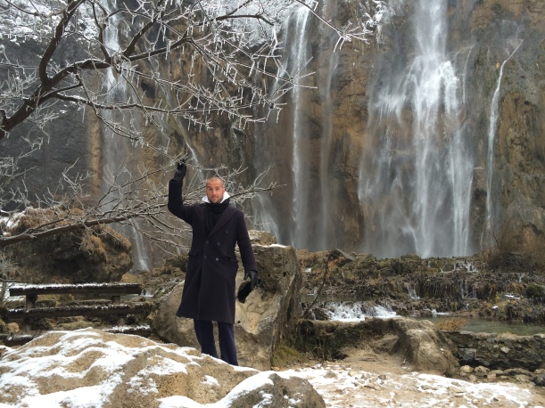 Milos and the falls!