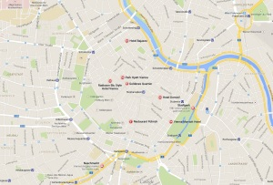 Vienna's 1st district - featured landmarks are courtesy Google Maps.