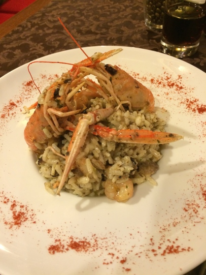 My amazing truffle, shrimp, and scampi risotto.