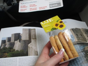 Croatia Airlines gives you snacks!