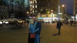 Posing in Stephansplatz!