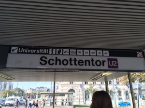 Entering the UBahn Station.  You can see that this stop is on the U2 line.