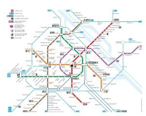 Vienna UBahn Map