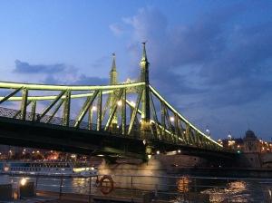 Sailing under the Liberty Bridge