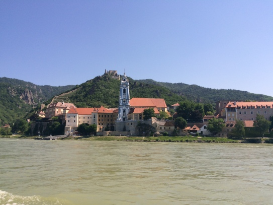 View of Dürnstein from the Danube River