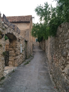 Narrow street into the heart of town