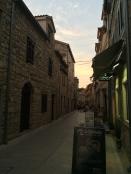 Skradin's old town area
