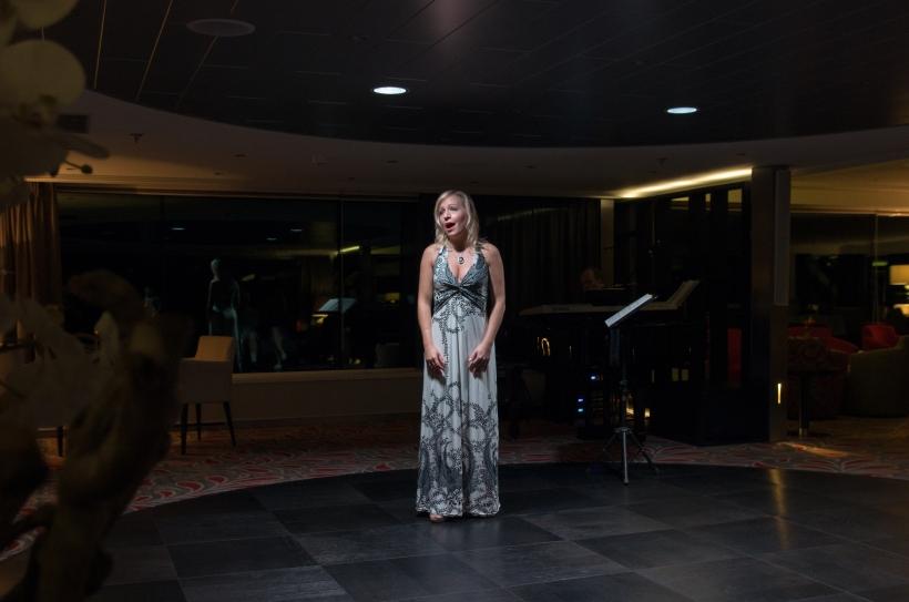 Singing in recital on-board