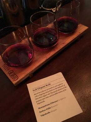 Wine flight in Italy