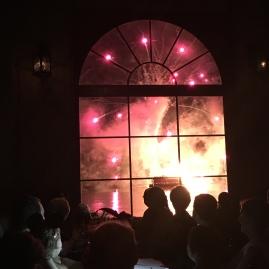 View of Illuminations from dinner at La Hacienda