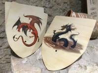 Fun dragon shields in the gift shop!