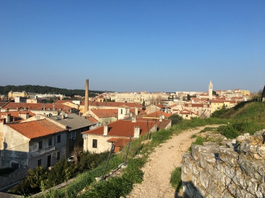 View of the city from the trail around the fortress