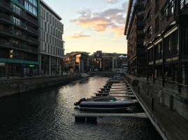 Aker Brygge area at sunset