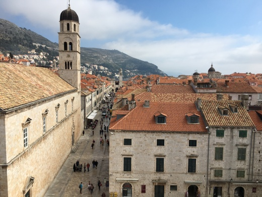 View of the Stradun from the city walls